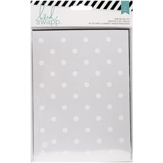 "Wanderlust Rub-On Foil Kit 5.5""X7.5""-Dots/Silver"