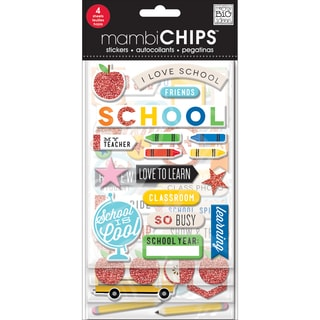 Chipboard Value Pack-I Love School