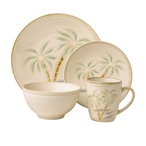 Shop pfaltzgraff everyday palm 16 piece dinnerware set on sale free shipping today Home goods palm beach gardens