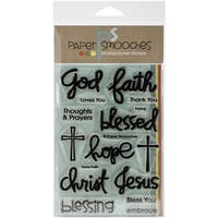 "Paper Smooches 4""X6"" Clear Stamps-Have Faith"