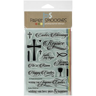 "Paper Smooches 4""X6"" Clear Stamps-Easter Blessings"