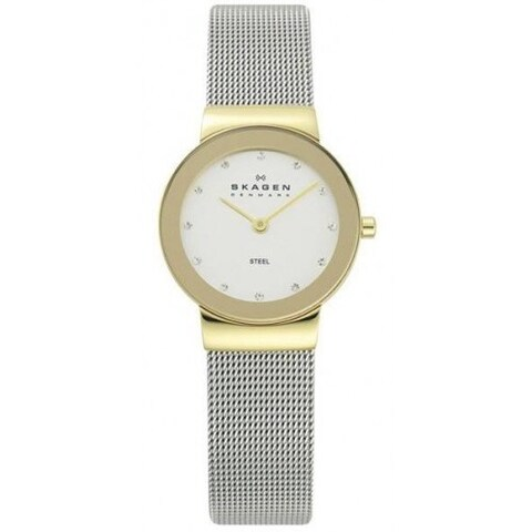 Skagen 'Mesh' Women's Gold Tone Ion Plated Stainless Steel Watch