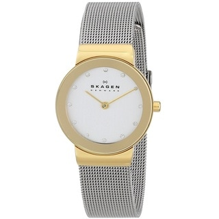 Skagen 'Mesh' Women's Gold Tone Ion Plated Stainless Steel 358SGSCD Watch