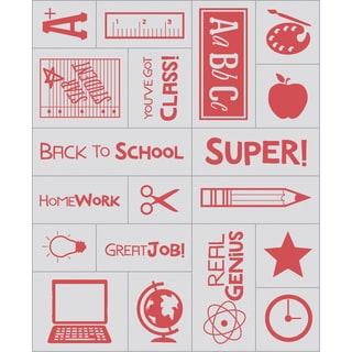 "Inkadinkado Mason Jar Foam Stamps 3""x5"" Sheet-Teacher"