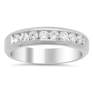14k White Gold Men's 3/4 ct TDW Diamond Ring (F-G, VS1-VS2)