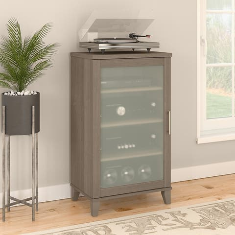 Copper Grove Busiek Mocha Media Cabinet
