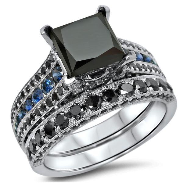Shop Noori 14k White Gold 3 3 5ct Tdw Certified Black