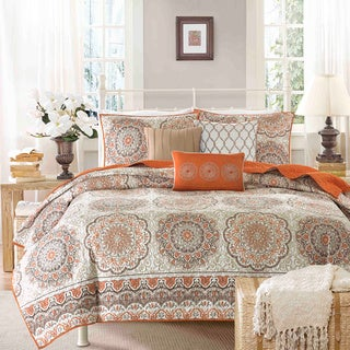 Charming Madison Park Curtner 6 Piece Quilted Coverlet Set