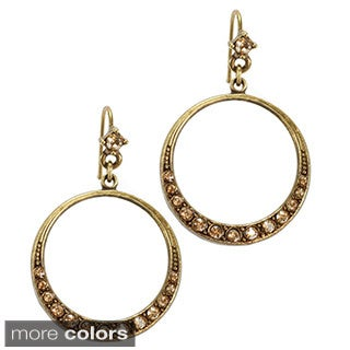 Sweet Romance Crystal Hoop Earrings