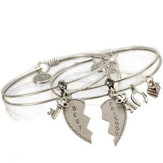 Sweet Romance Set of 2 Friendship Bangle Bracelets (Option: Clear)|https://ak1.ostkcdn.com/images/products/10011241/P17159042.jpg?impolicy=medium