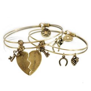 Sweet Romance Set of 2 Friendship Bangle Bracelets
