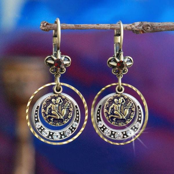 Sweet Romance Zodiac Sign Astrology Birthstone Earrings