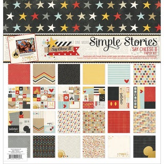 "Simple Stories Paper Pack 12""X12"" 12/Pkg-Say Cheese II"