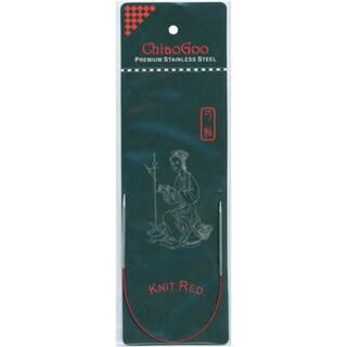 "Red Circular Knitting Needles 9""-Size 6/4mm"