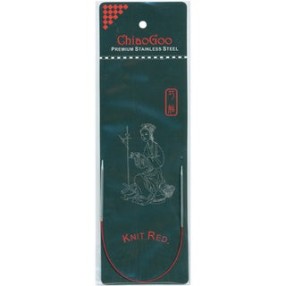 "Red Circular Knitting Needles 9""-Size 8/5mm"