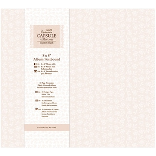 Papermania Oyster Blush Postbound Album 8inX8in