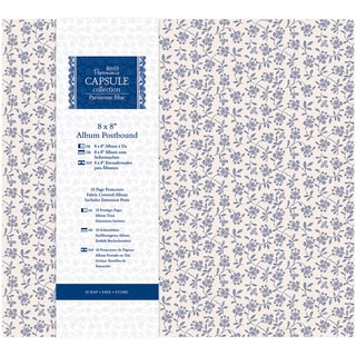 Papermania Parisienne Blue Postbound Album 8inX8in