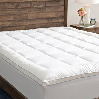 Grandeur Collection PowerNap Cotton Top Fiber Blend Mattress Pad|https://ak1.ostkcdn.com/images/products/10011383/P17159283.jpg?impolicy=medium