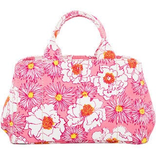 Prada Floral Print Canvas Tote (As Is Item)