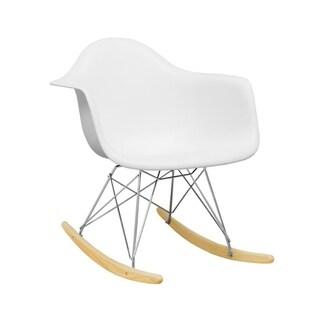 Mod Made Mid Century Paris Tower Lounge Rocker, Rocking Dining Arm Chair