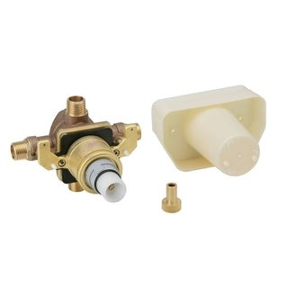 Grohe Non Rapido Concealed Thermostatic 0.5-inch Npt with Stops Starlight Chrome