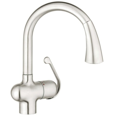 Grohe Ladylux Ladylux Pull-out Spray Stainless Steel Brushed