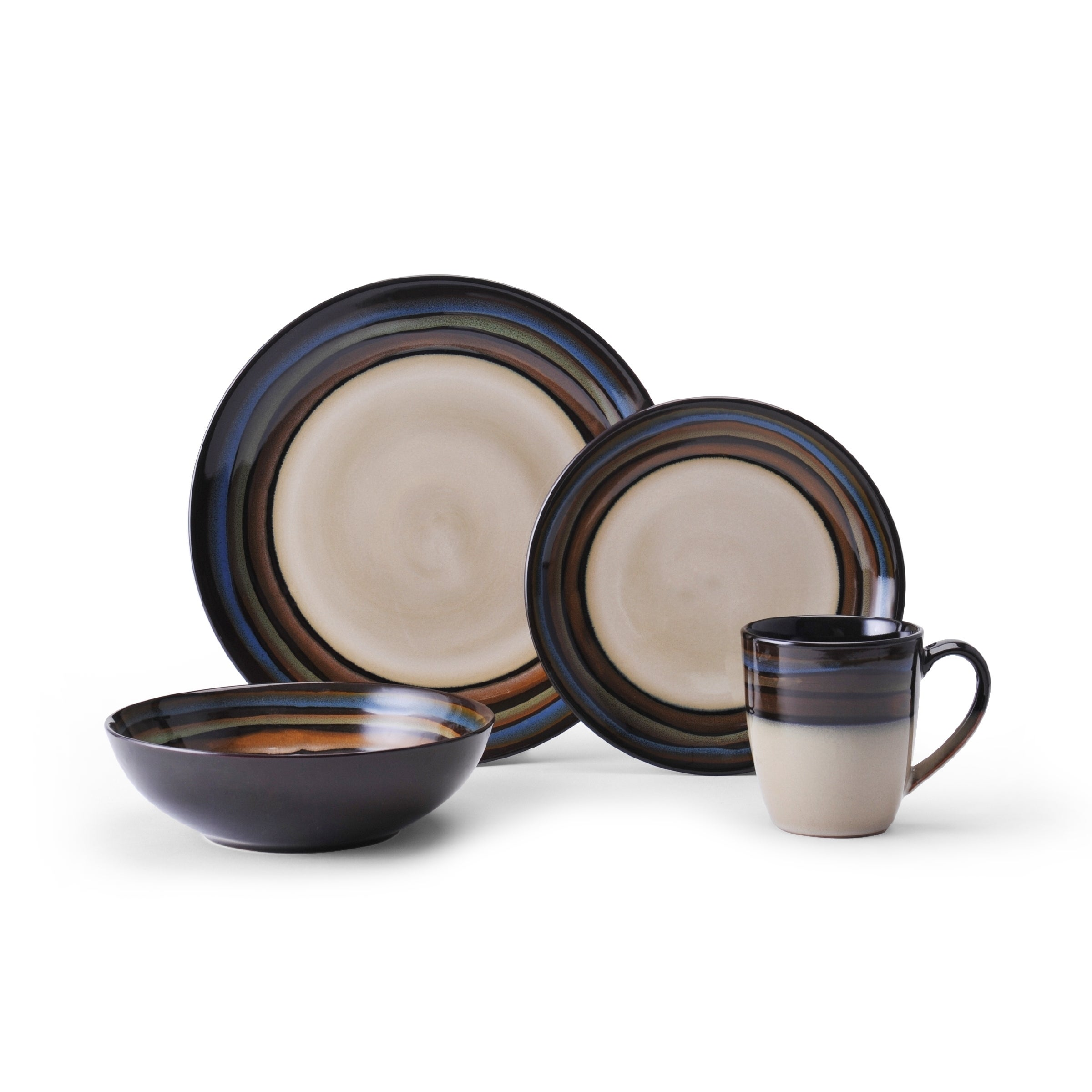 Galaxy Red 16 Piece Dinnerware Set Service For 4 Overstock 10011474