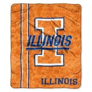 Illinois Sherpa Throw Blanket
