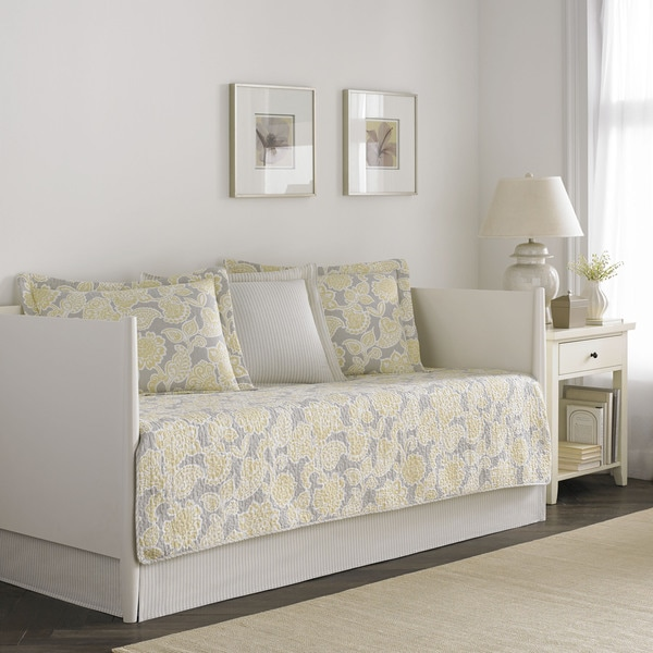 Shop Laura Ashley Joy 5 Piece Quilted Daybed Cover Set