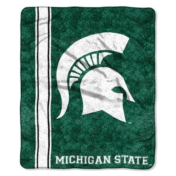 Michigan State Sherpa Throw Blanket
