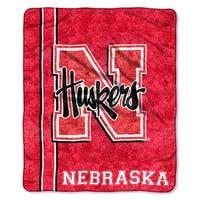 Nebraska Sherpa Throw Blanket