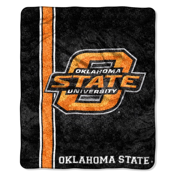 Oklahoma State Sherpa Throw Blanket