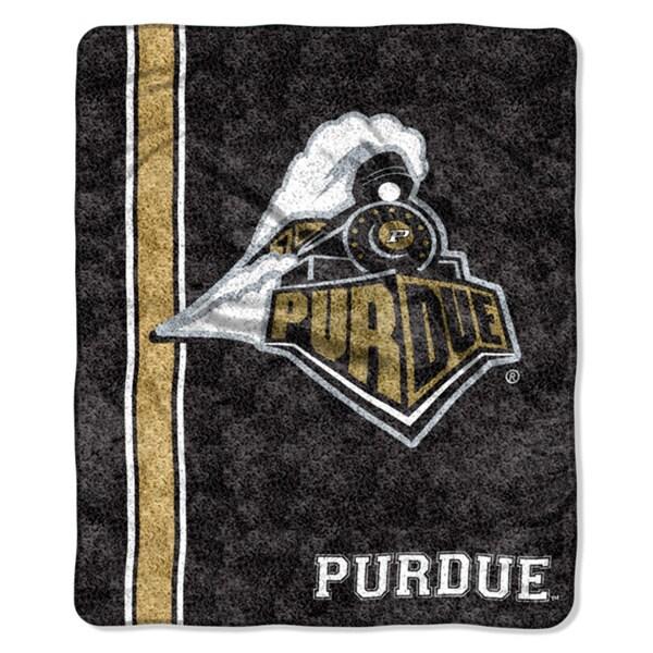 Purdue Sherpa Throw Blanket