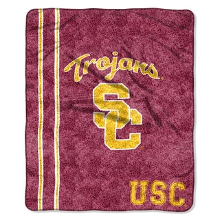 USC Sherpa Throw Blanket