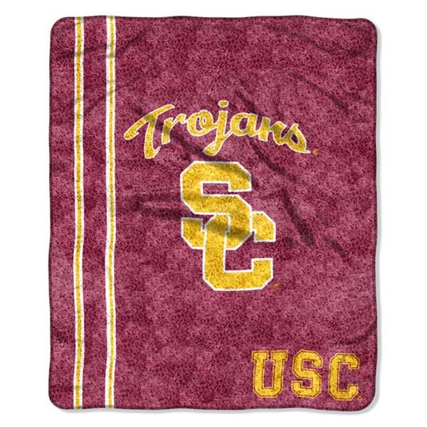 USC Sherpa Throw Blanket