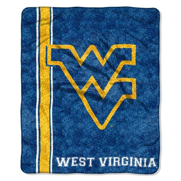 West Virginia Sherpa Throw Blanket