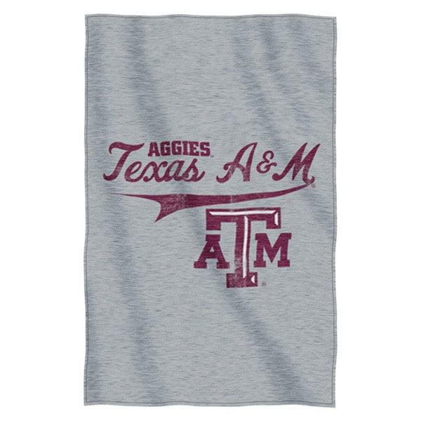 Texas A&M Sweatshirt Throw Blanket