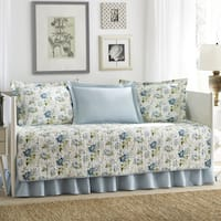 Laura Ashley Peony Garden  5-piece Quilted Daybed Cover Set