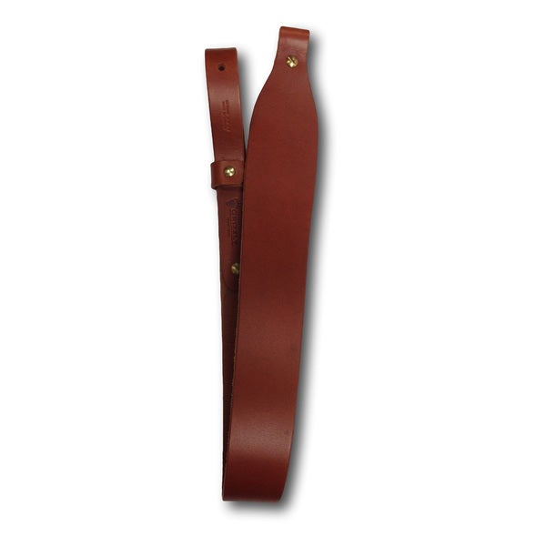 Grizzly Heavy Weight Leather Cobra Rifle Sling, Dark Brown