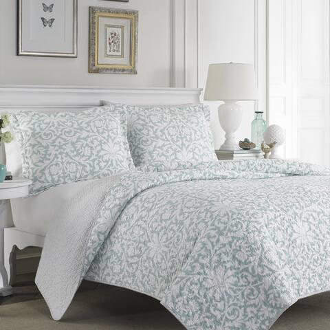 Laura Ashley Mia Reversible 3-piece Cotton Quilt Set