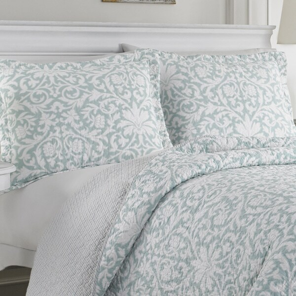 Laura Ashley Mia Reversible 3-piece Cotton Quilt Set