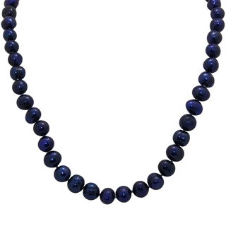 Sterling Silver Blueberry Freshwater Pearl Necklace