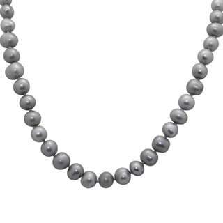 Sterling Silver Cookies 'N' Cream Freshwater Pearl Necklace