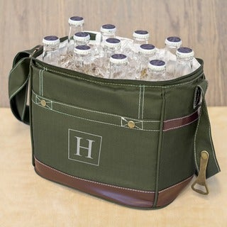 Personalized Green 12-pack Bottle Cooler with Opener