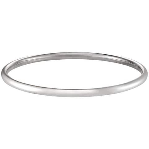 Forever Last 14k White Gold Polished Bangle Bracelet