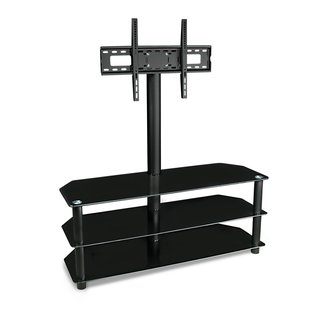 Mount-it! 55-inch TV Mount with Glass Shelves