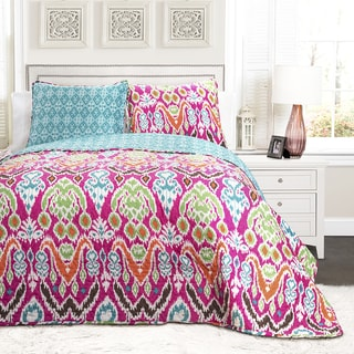 Shop Lush Decor Jaipur Ikat 3 Piece Quilt Set Free