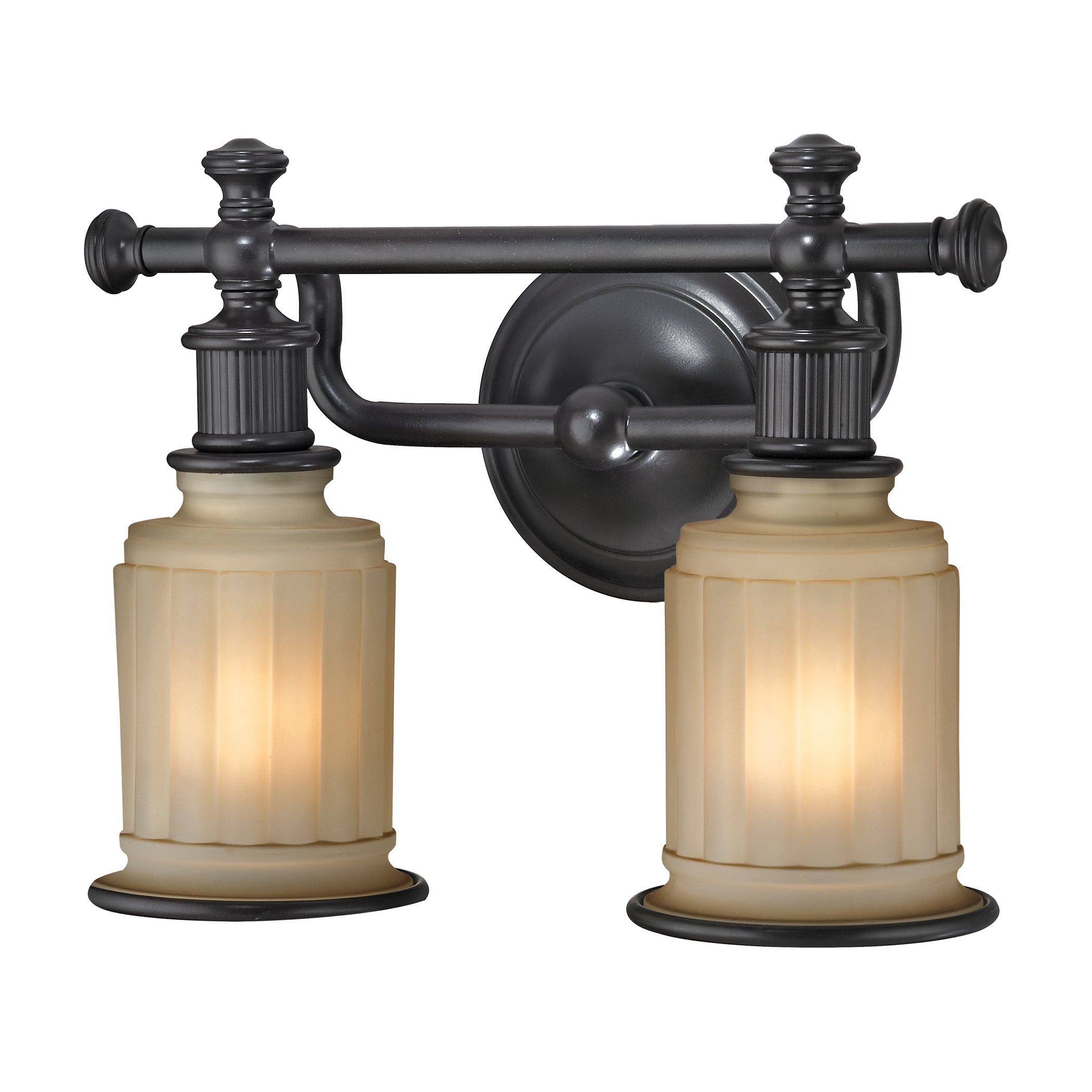 Shop Acadia 2 Light Oil Rubbed Bronze Bath Fixture Overstock 10011885