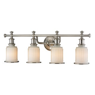 Acadia 4-light Brushed Nickel Bath Fixture
