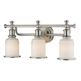 Acadia 3-light Brushed Nickel Bath Fixture (2 options available)